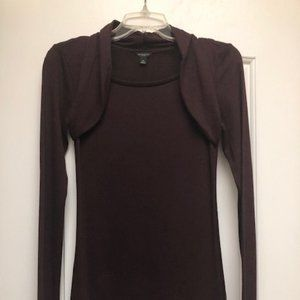 Ann Taylor Plum Sweater - XS
